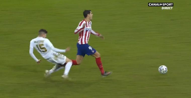 Alles voor het team: Valverde trekt aan noodrem bij Morata en leidt Real-zege in