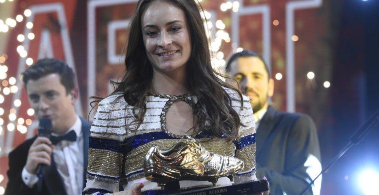 Wullaert wint vrouwelijke Gouden Schoen voor de derde keer in vier jaar tijd