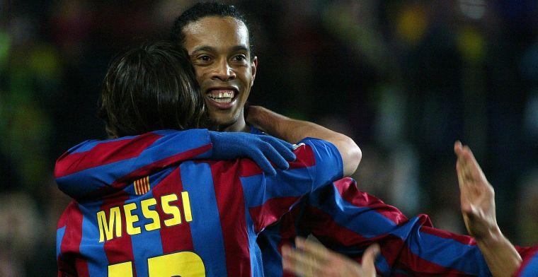 Messi 'had niets nodig' van Ronaldinho bij Barcelona: 'Leo heeft alles'