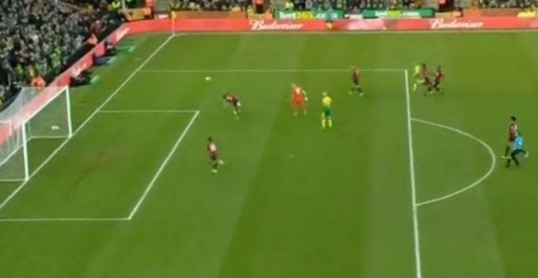 Wereldredding: Bournemouth-verdediger Cook krijgt rood na spectaculaire save