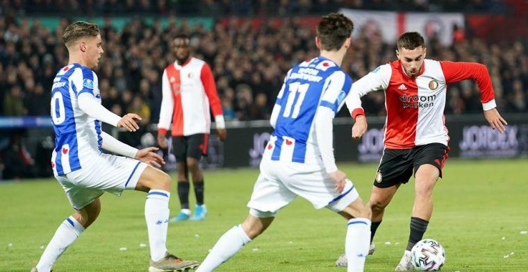 Feyenoord heeft genoeg aan buitengewoon productief half uur tegen Heerenveen