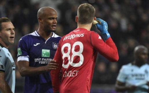 """Kompany krijgt lof voor actie tijdens Anderlecht-Club Brugge: """"Moedig van hem"""""""