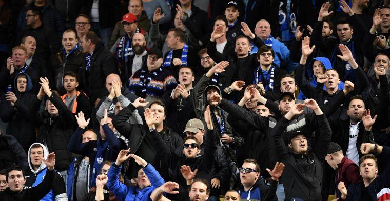 Club Brugge-fans zijn woensdag massaal op post voor Croky Cup