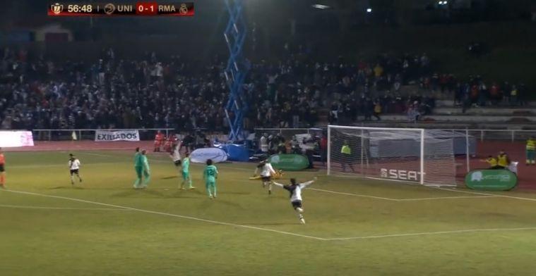 Strak in de bovenhoek: derdedivisionist stunt, heerlijke uitval tegen Real Madrid