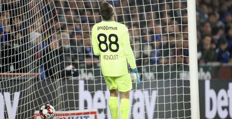 'Ongelukkige Mignolet is niet de enige gebuisde bij Club Brugge'