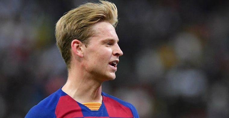 Frenkie de Jong geconfronteerd met trainerswissel bij Barça: 'Die intentie blijft'