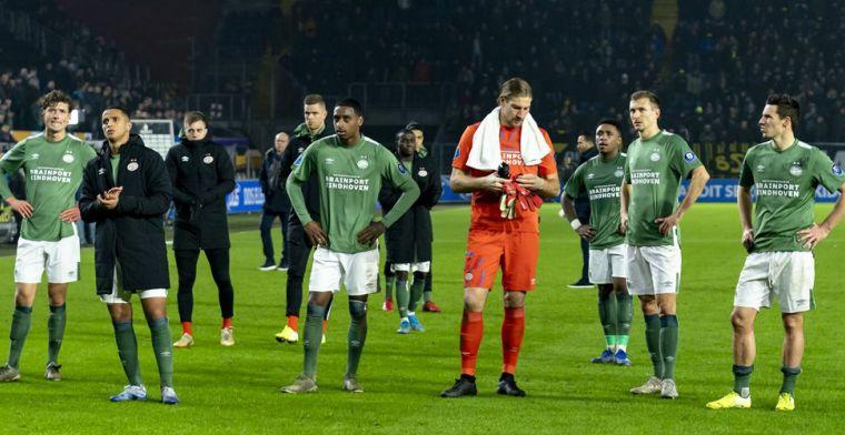 PSV 'karakterloos, zielig, beschamend': 'Directie kan zich niet meer verschuilen'