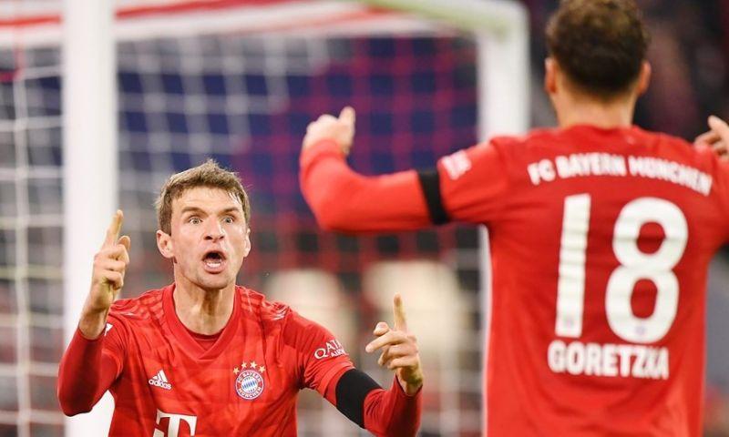 Afbeelding: Bayern geeft galavoorstelling weg en blijft in het spoor van koploper Leipzig