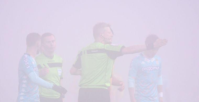 Voetballen onmogelijk door mist: Charleroi-KV Mechelen wordt definitief gestaakt