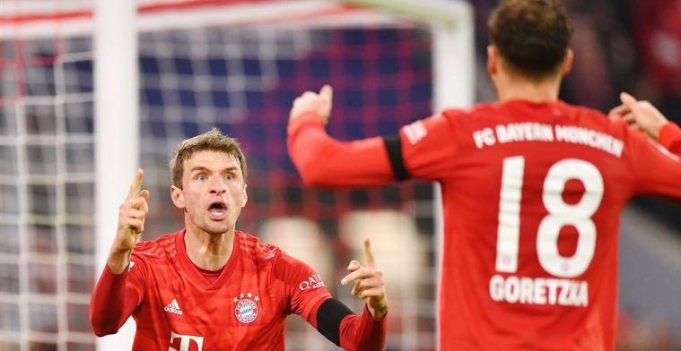 Bayern geeft galavoorstelling weg en blijft in het spoor van koploper Leipzig