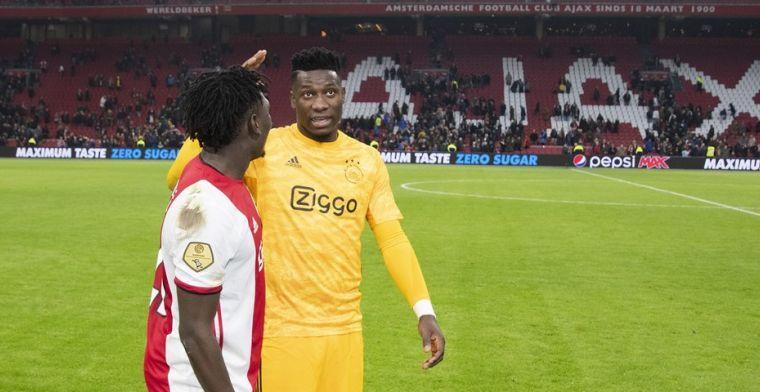 Ajax mist Onana in Groningen met schouderblessure, maar 'de schade valt mee'