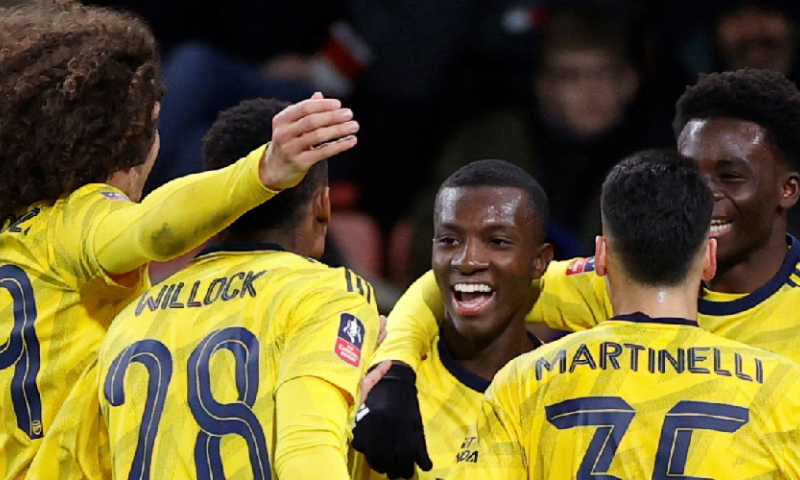 Afbeelding: Talenten schieten Arsenal een ronde verder in de FA Cup