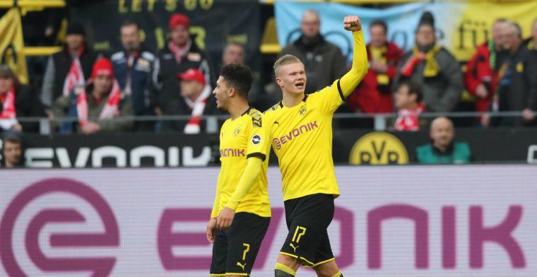 Fenomeen Haaland stoomt door bij Dortmund, St. Juste redt eer Mainz tegen Bayern