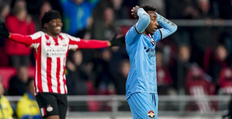 Negatieve hoofdrol voor Willem II-sensatie tegen PSV: 'Het was een misverstand'