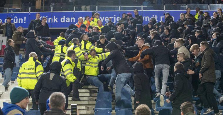 Heerenveen over 'provocerende' Feyenoord-fans: 'Helaas niet gepast en respectvol'