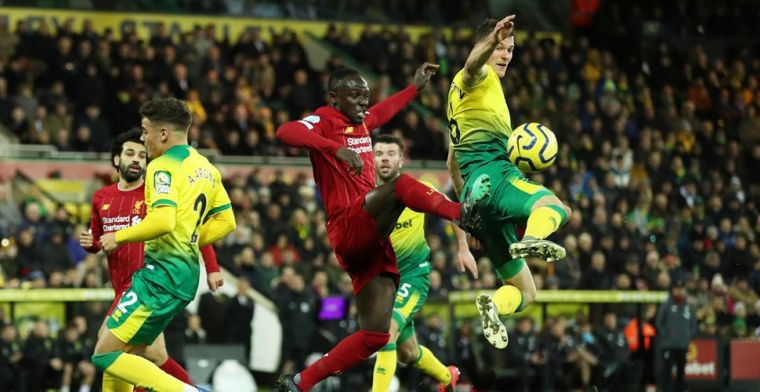 Liverpool-trein dendert dankzij Mané ook op bezoek bij Norwich City door