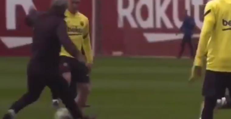 Pijnlijk: Arthur vernedert trainer Setién tot twee keer toe tijdens Barça-rondo
