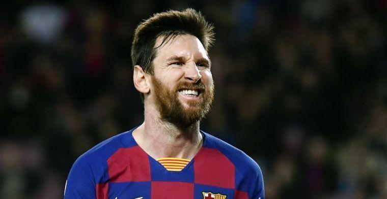 Messi goudeerlijk: 'Barça heeft niet het niveau om te strijden voor de titel'