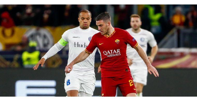 KAA Gent speelt een match van net niet tegen AS Roma