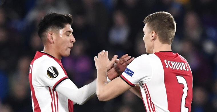 Schuurs in de fout bij Ajax: 'Zo krijg ik nooit een basisplaats'