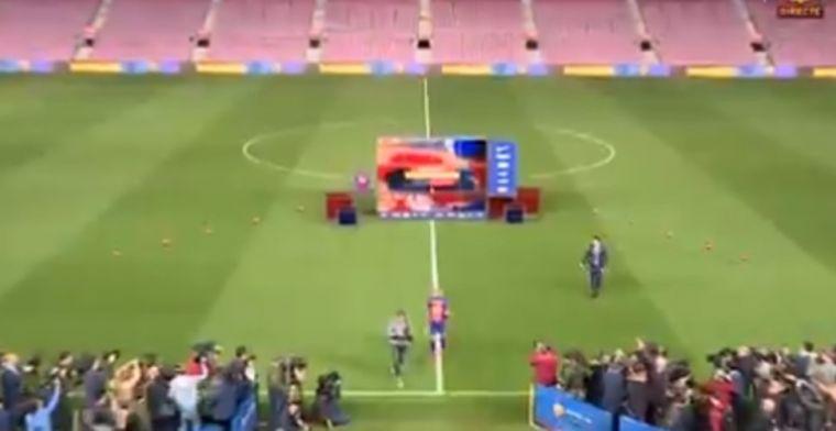 Geluk bij een ongeluk: Camp Nou bijna leeg bij presentatie Braithwaite