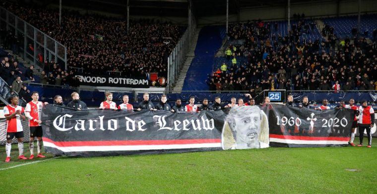 Laatste eerbetoon aan overleden materiaalman De Leeuw: minuut lang applaus in Kuip