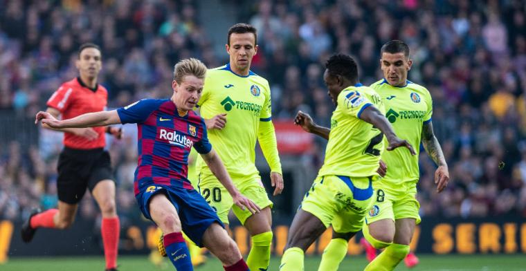 Slecht nieuws voor Frenkie de Jong: geen plek op viermansmiddenveld van Barça