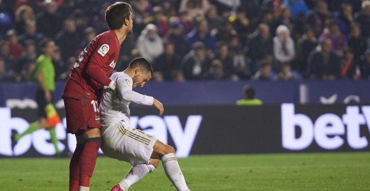 Real Madrid en Zidane vrezen nieuwe absentie Hazard: 'Ziet er slecht uit'
