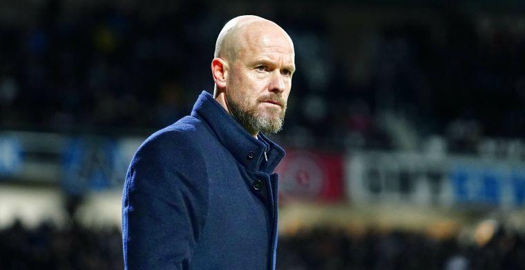 Ten Hag baalt van nieuwe Ajax-nederlaag: Dat hij beter moet, weet hij zelf ook