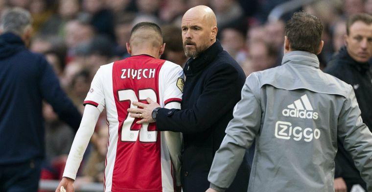 Ten Hag komt met Ziyech-update: 'Het was al bekend dat hij klachten had'