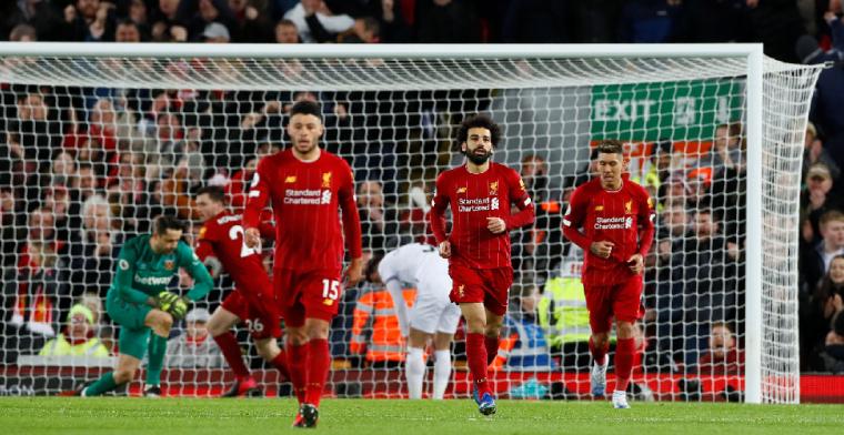 Liverpool blijft ongeslagen in Engeland na geweldige comeback tegen West Ham