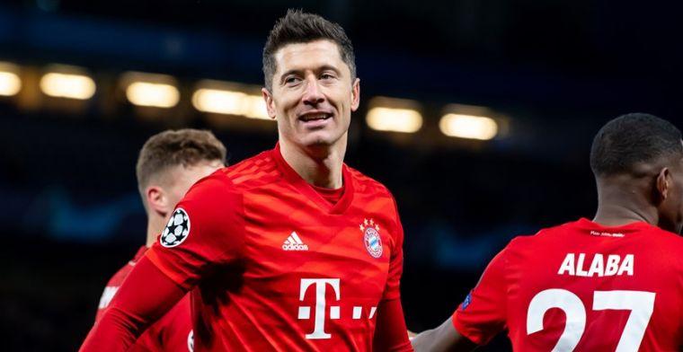 Flinke tik voor Bayern: Lewandowski voorlopig uit de roulatie door knieblessure