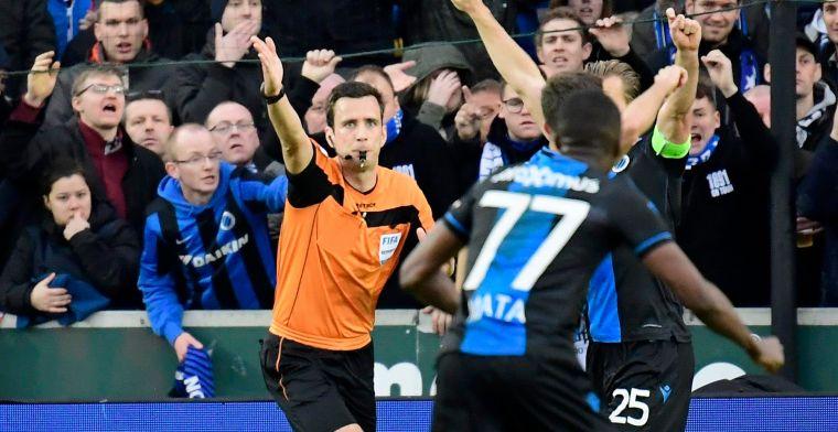 De aanduidingen: Lambrechts fluit Genk-Club Brugge, 'choc wallon' met Waalse ref