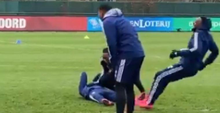 Deze doet pijn: Berghuis voor schut gezet op Feyenoord-training