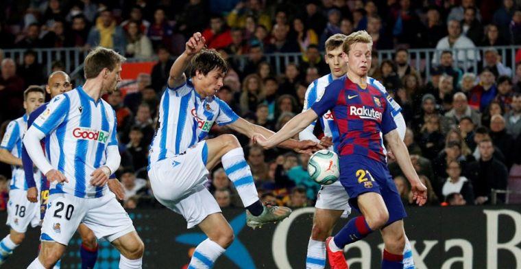 De Jong 'rebelleert' bij Barça: 'Maar overduidelijk dat hij niet op zijn gemak is'