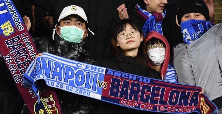 Problemen rond Barça - Napoli: geen vluchten meer tussen Italië en Spanje