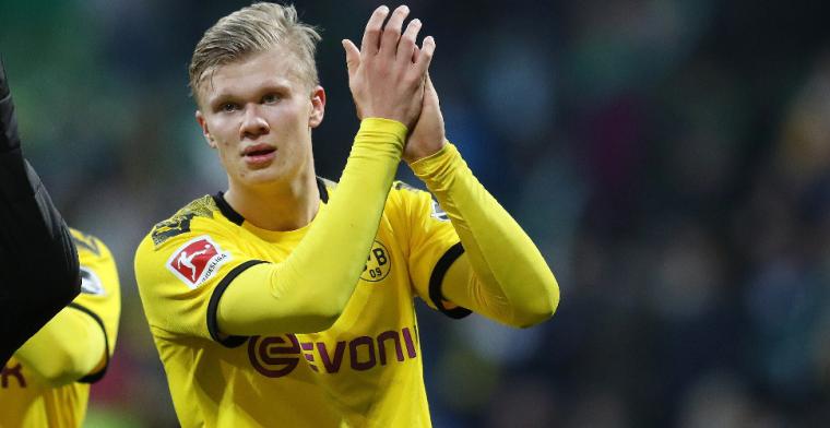 Raiola voorzichtig met Haaland: 'Hij vertrekt deze zomer niet bij Dortmund'