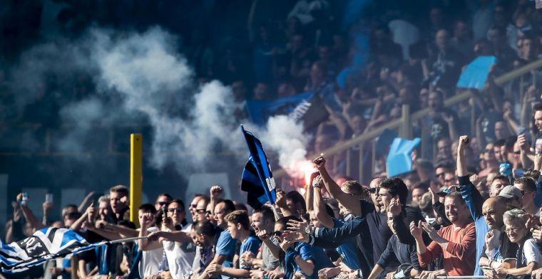 Ook fans van Club Brugge komen met steuntifo voor zorgsector
