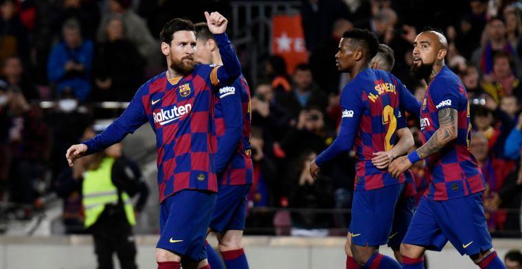 Messi tackelt ophef: Barcelona-spelers leveren zeventig procent salaris in