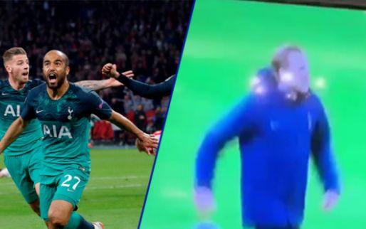 Niet geschikt voor Ajax-fans: Lucas ziet comeback, lacht bij valpartij Schöne