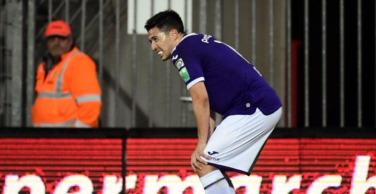 Zijn overgang naar RSC Anderlecht is een fiasco