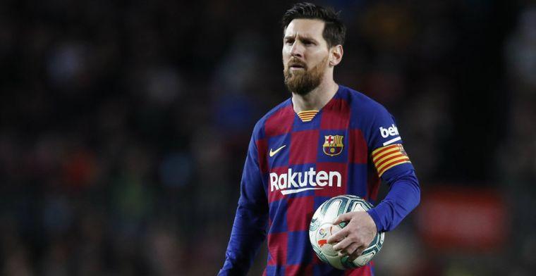 Messi trekt van leer tegen Inter-'fake news': 'Gelukkig gelooft niemand dit'