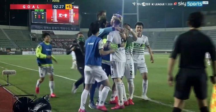 Wat een droomdebuut! Veldwijk maakt in minuut 93 de winnende in Zuid-Korea