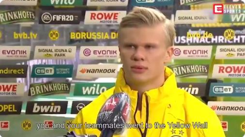 'Robot' Haaland gaat viral: Dortmund-spits geeft vaker merkwaardige interviews