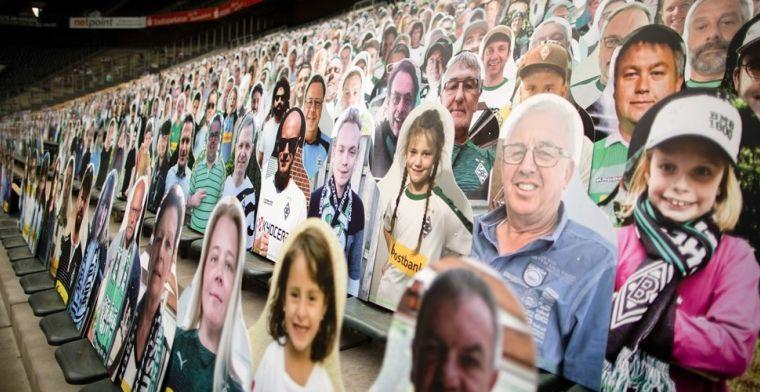 Schitterende plaatjes: 20.000 kartonnen fans in stadion van Gladbach