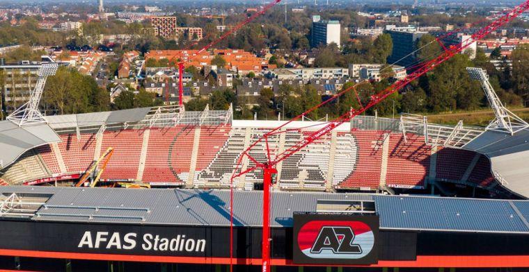 AZ heeft nieuws: 'voorbereidende werkzaamheden' voor nieuw stadiondak begonnen
