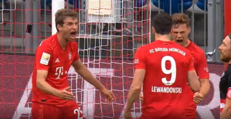 GOAL: Lewandowski scoort met een pareltje zijn eerste ooit tegen Düsseldorf