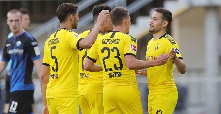Dortmund heeft Haaland niet nodig: zes doelpunten in één helft tegen hekkensluiter