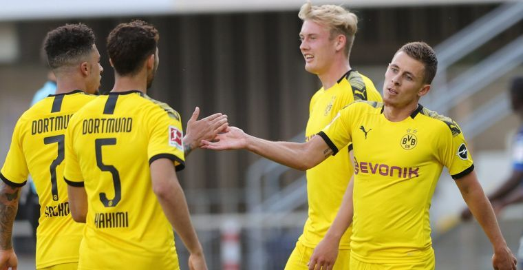 Knap: Thorgan Hazard houdt Werner en Lewandowski achter zich