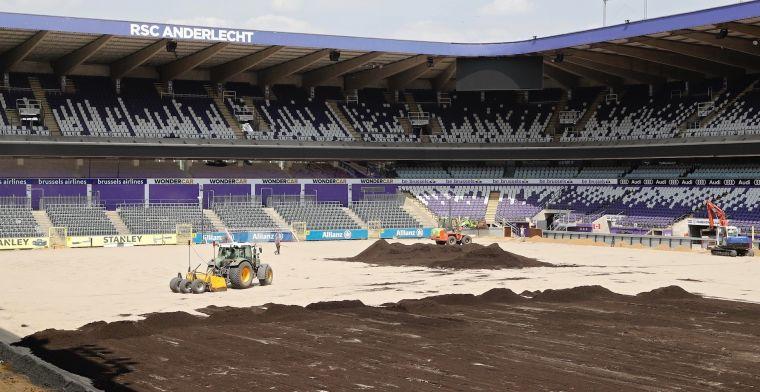 Werf in Anderlecht: 'Werken aan Lotto Park zijn begonnen'
